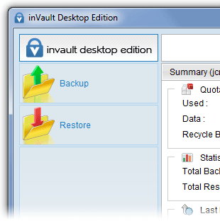 Manage inVault conveniently from your computer